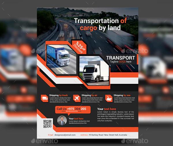 Transport of Cargo Flyer Template