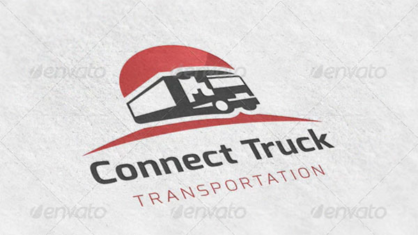 Truck Transport Logo Design Template