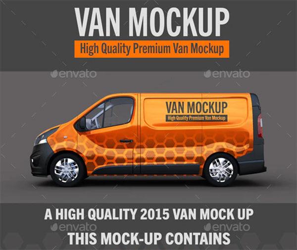 Van Vehicle Mockup
