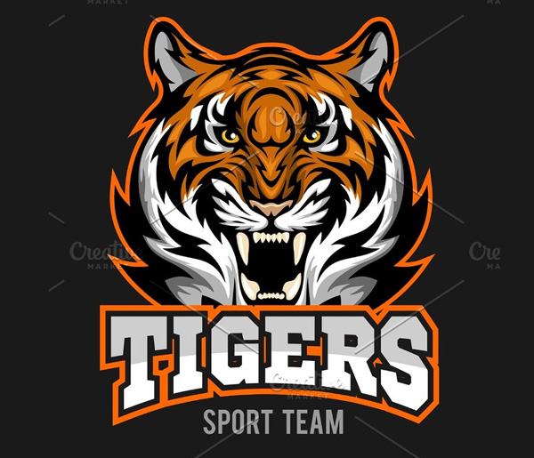 Vector Angry Tiger Logo Design