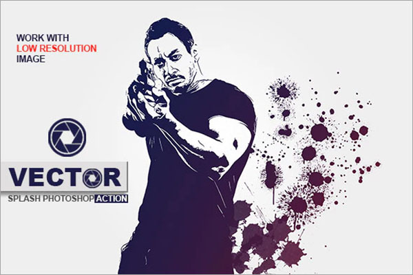 Vector Splash Photoshop Action