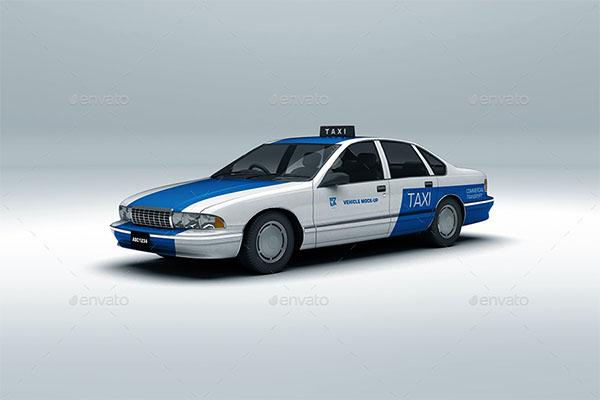 Vehicle Branding PSD Mock-up
