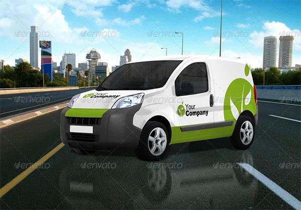 Vehicle Decoration Mock-Up Van