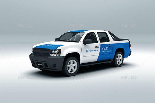 Vehicle Photoshop Mock-up