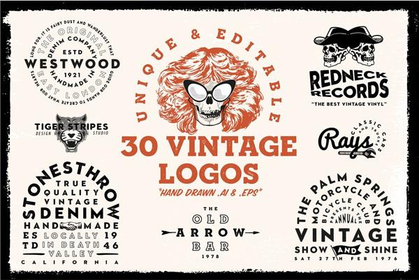Vintage & Retro logos Template