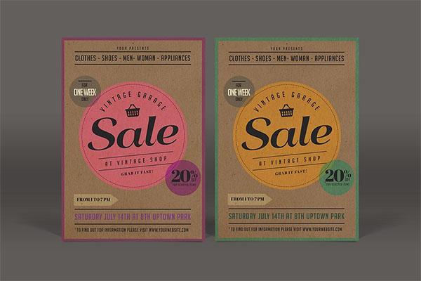 Vintage Yard Sale Flyer Templates