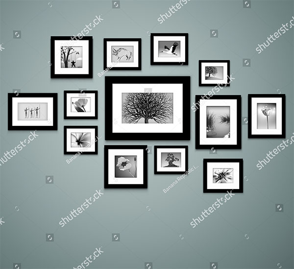 Wall Photo Frame Template