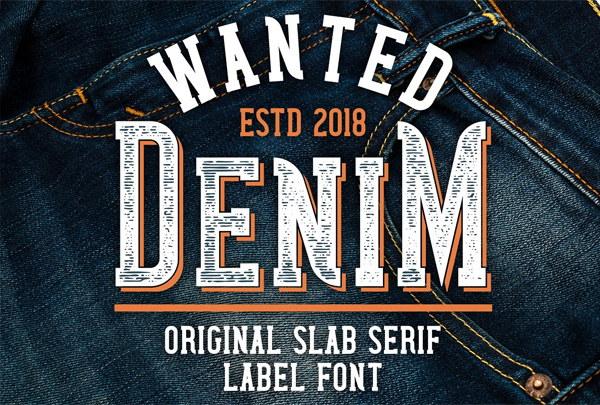 Wanted Denim Layered Font Styles