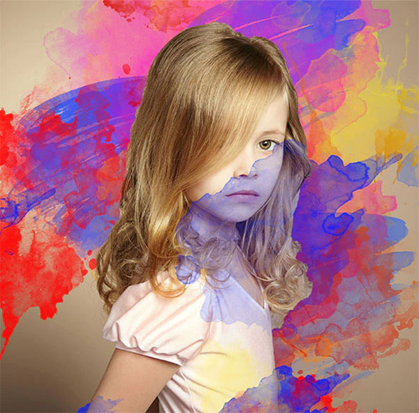 Water Color Splash Photoshop JPG Action