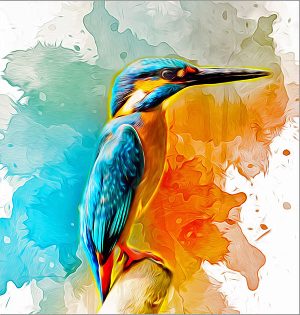 Watercolor Oil Paint Photoshop Action