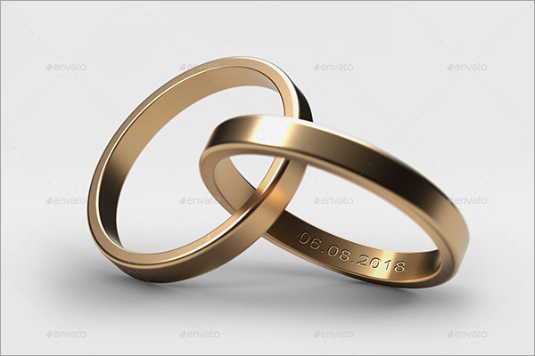 Wedding Rings Mockup Design