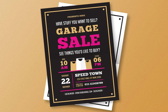 Yard Sale Flyer Templates