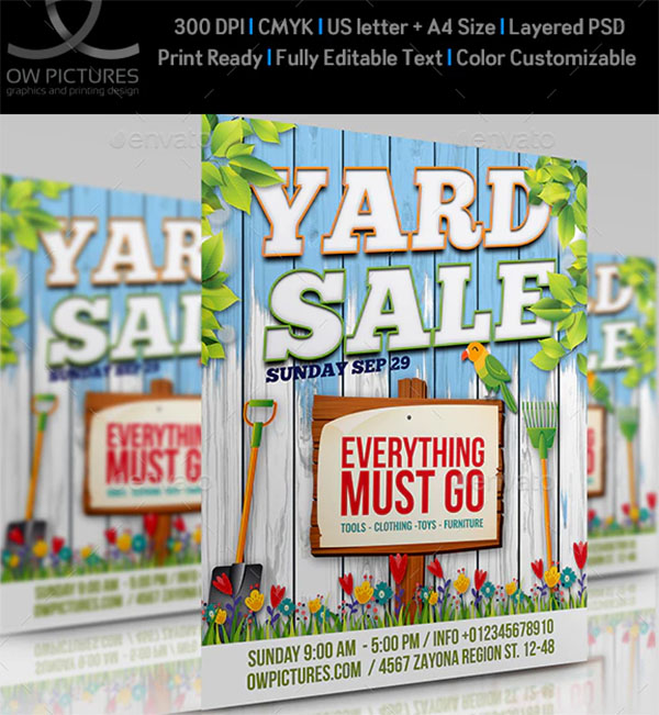 52  yard sale flyer templates