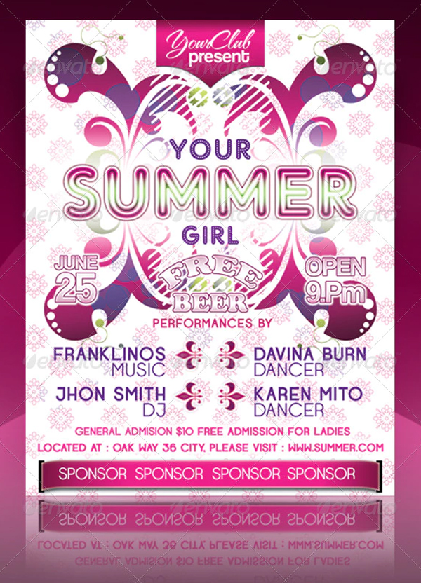 Your Summer Girl Flyer