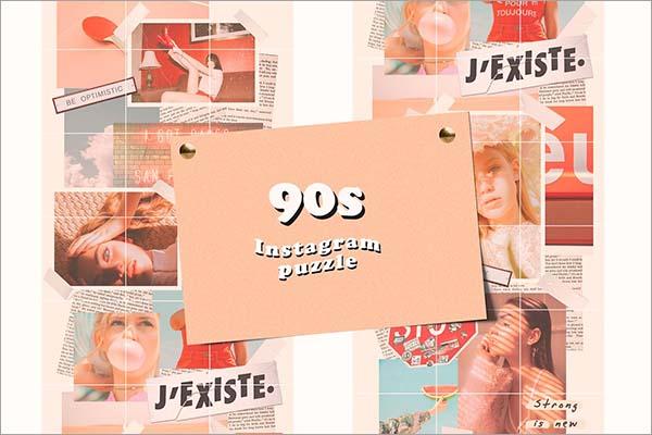 90s Instagram Puzzle Template
