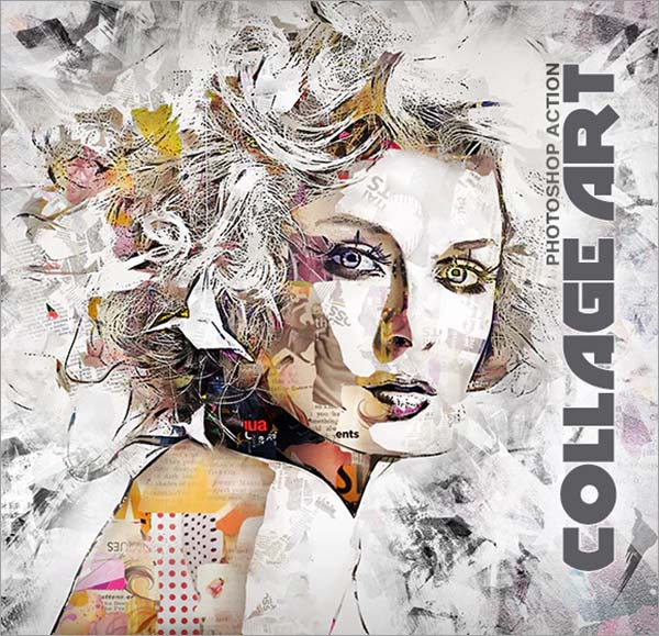 Abstract Collage Art Photoshop Action