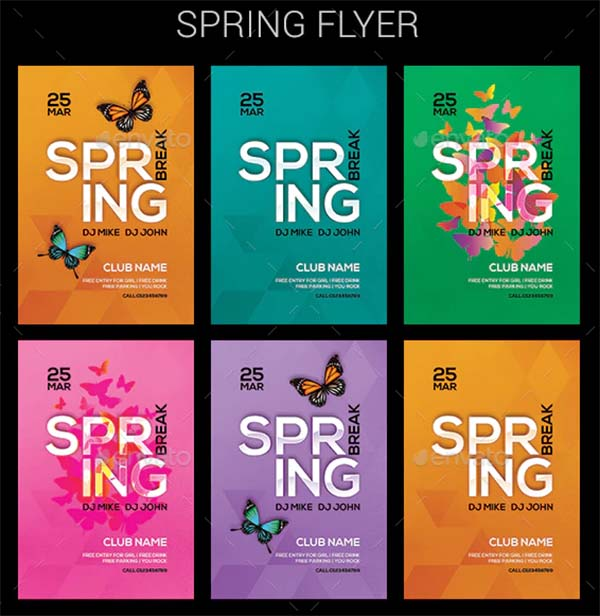 Advertising Spring Flyer Template