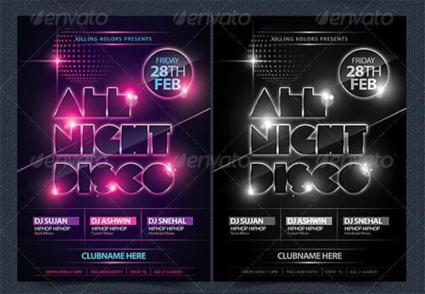 All Night Disco Flyer