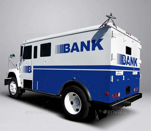 Armored Truck Wrap MockUp