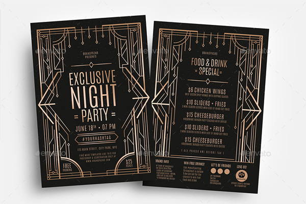 Art Deco Flyer Templates