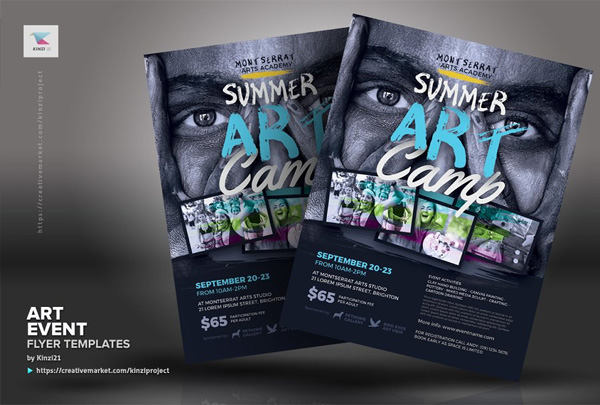 Art Event Flyer Editable Templates