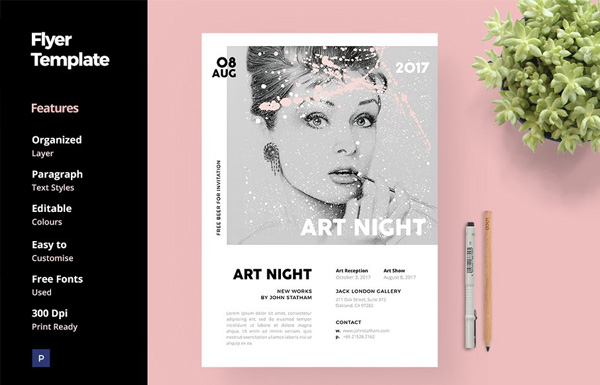 Art & Fashion Flyer Template