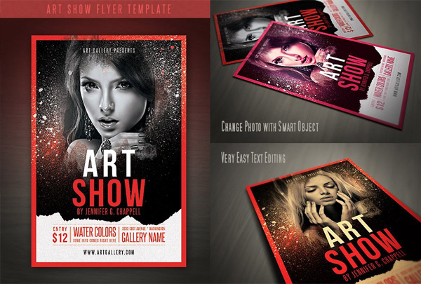 Art Show Flyer Printable Template