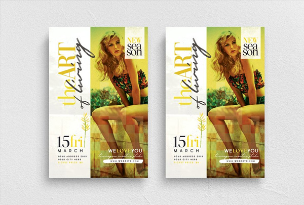 Art of Living Flyer Template