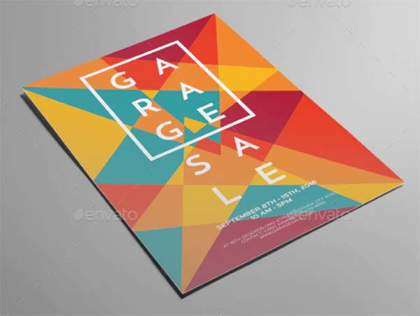 Artsy Garage Sale Flyer Template