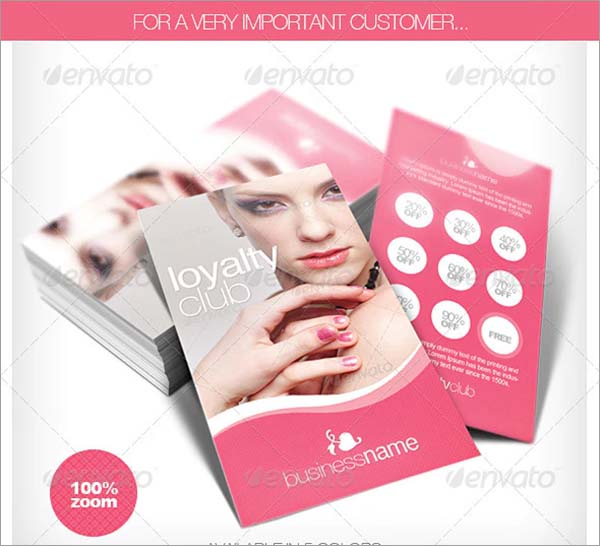 Beauty and Fashion Loyalty Cards