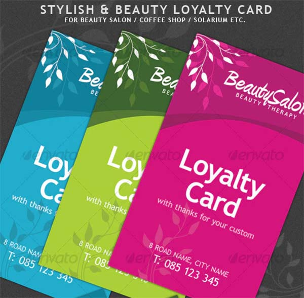 Beauty and Stylish Loyalty Cards
