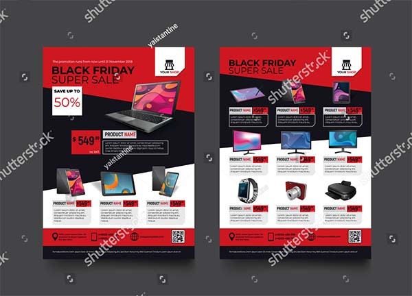 Black Friday Sale Promotion Flyer Template