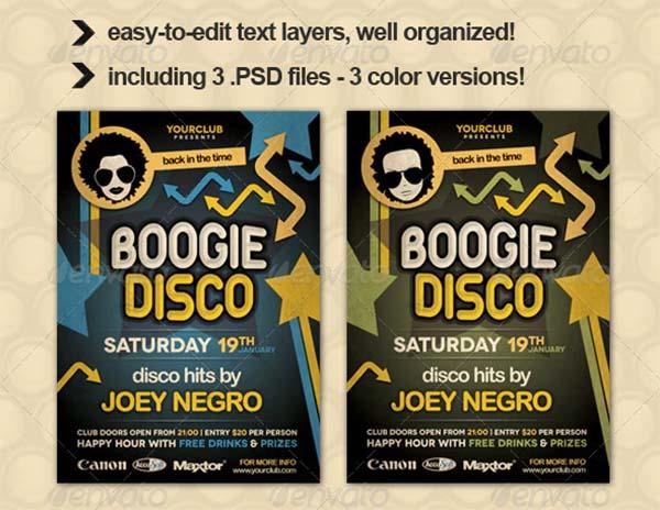 Boogie Disco Flyer Template
