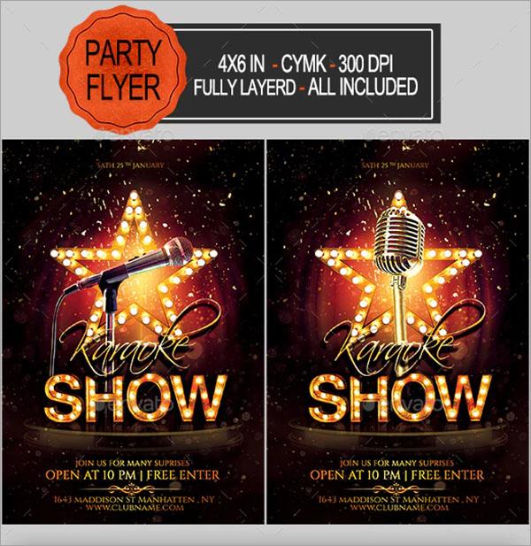 CMYK Karaoke Flyer Template