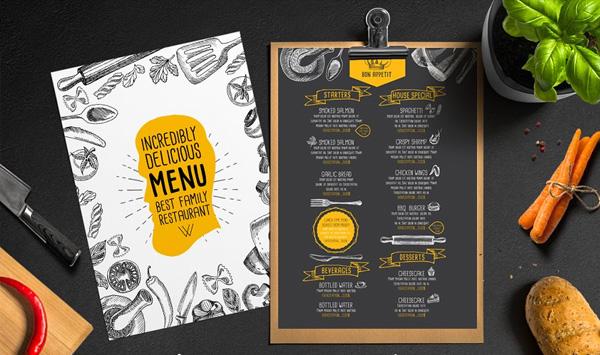 Cafe Menu Brochure Printable Template