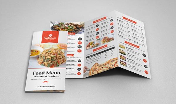 Cafe Menu Trifold Brochure Design Template