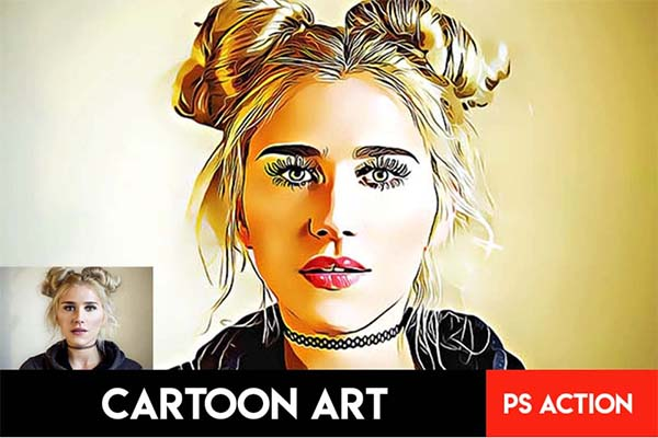 Cartoon Art Photoshop Actions