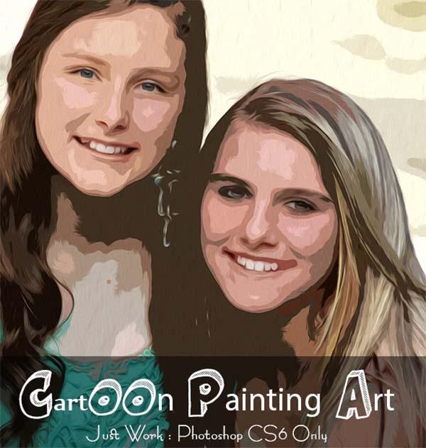 Cartoon Painting Art Photoshop Action