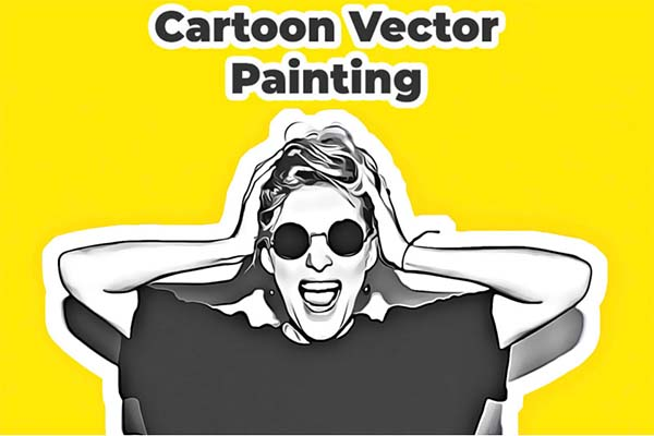 Cartoon Vector Painting PSD Action