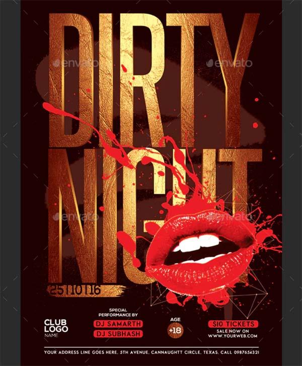 Creative Dirty Night Flyer