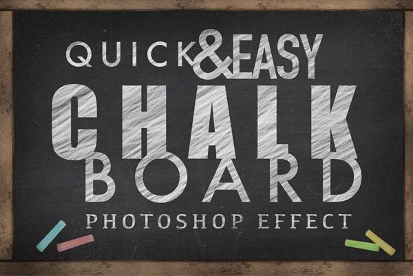 Chalkboard Photoshop Effect