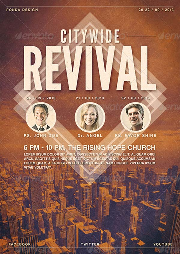 Citywide Revival Flyer and Poster Template