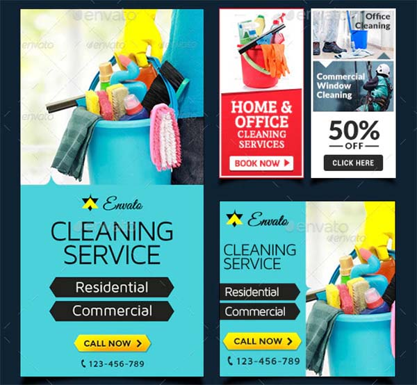 Cleaning Service Banner Bundle