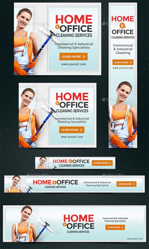 Cleaning Service Marketing Banners