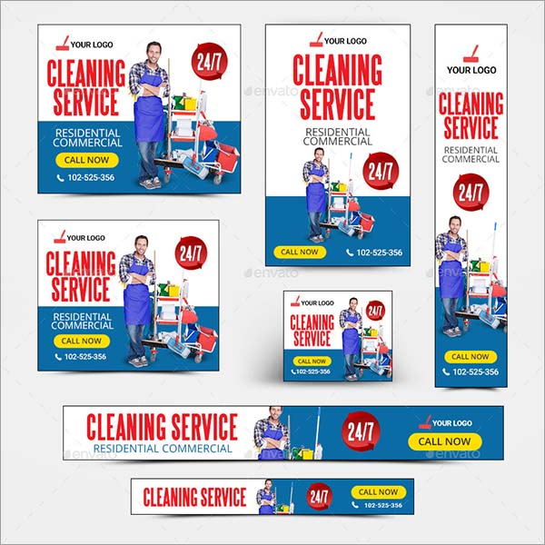 Cleaning Service PSD Banners