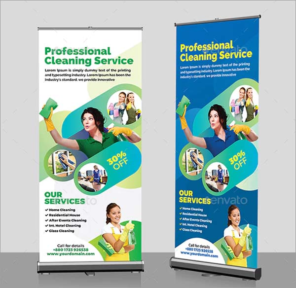 Cleaning Service Roll-Up Banner Template