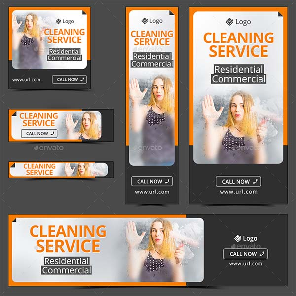 Cleaning Service Promotion Banners