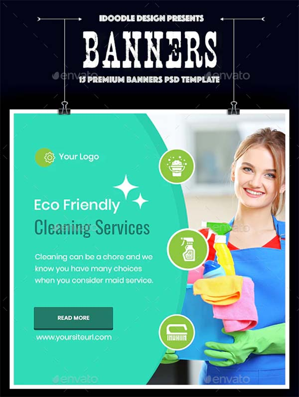 Cleaning Services Banner Design Templates