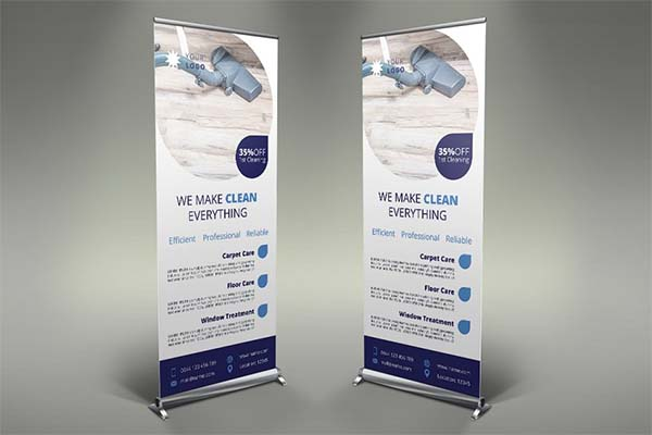 Cleaning Services Roll Up Banner Template