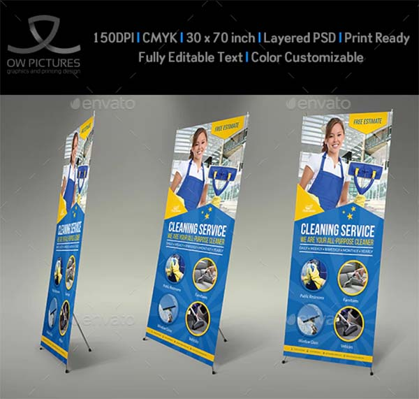 Cleaning Services Signage Banner